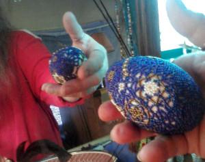 Beaded Blue Egg jan 2014-1