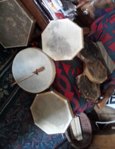 Drums on chair floor1